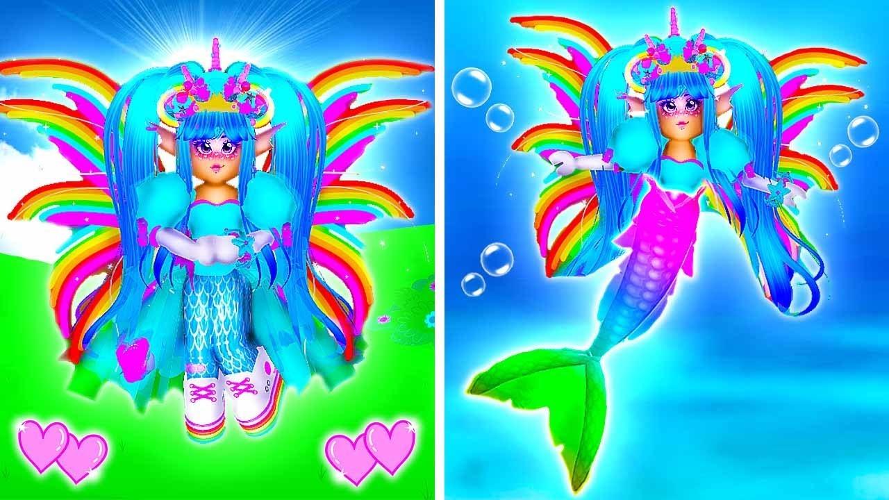 Youtube Roblox Royal High Mermaid The Princess Who Secretly A Mermaid Royale High School Roblox Roleplay Story Youtube