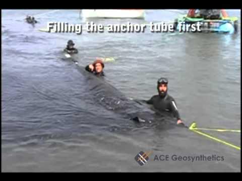 Geotextile Tube Installation Process - Underwater