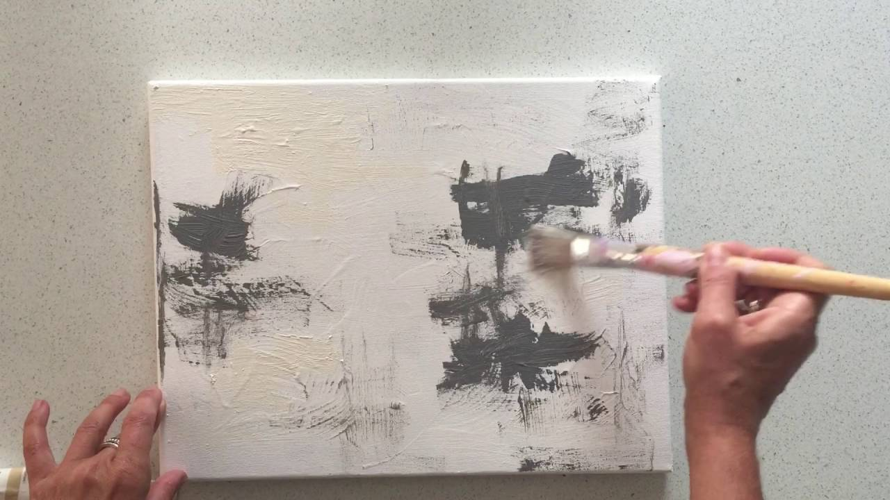 Black And White Acrylic Painting Tutorial
