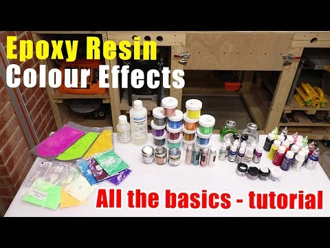 Resin Colour Basics - what you can use to add color to your resin - Resin Tutorial
