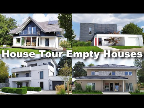 House Tour Empty New Houses in Germany   Haustour Fertighaus Neue Häusern Deutschland