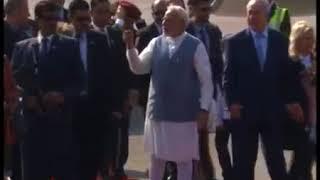 PM Shri Narendra Modi receives Israeli PM Benjamin Netanyahu at Delhi Airport