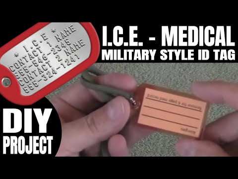 Military Dog Tag Style I.C.E - Medical ID Tag | DIY Project