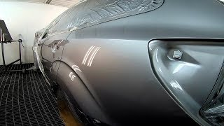 Painting car Subaru   Sanding Primer/Surfacer/3M   Base Cromax Pro   Clear coat Lechler