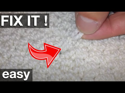 Quick And Easy Fix Of A Berber Carpet Pull Youtube