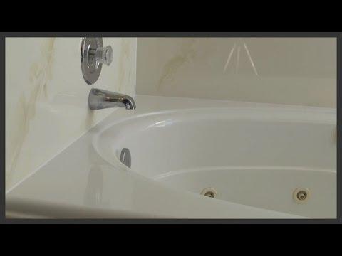 Bathtub caulk replacement - YouTube