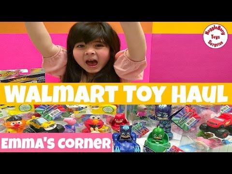 Huge Walmart Toys Haul Emma S Corner Pj Masks Peppa Pig Sesame