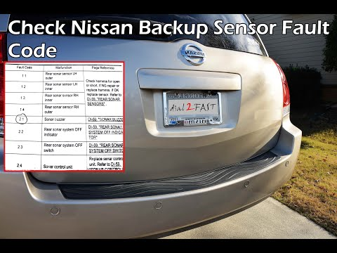 Nissan Reverse Backup Sensor Check Fault Code (Quest 2004 - 2009) - PART 1