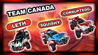 AMAZING TEAM PLAYS WITH SQUISHY AND CORRUPTEDG   CANADA TAKES ON RANKED