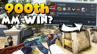 CS:GO - Going for 900th MatchMaking Win and Re-Rank! - Full MatchMaking #16