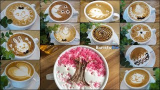 12 different latte art designs