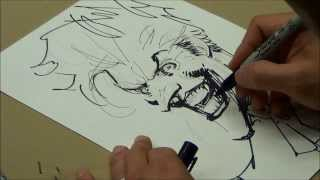 Jim Lee drawing Joker