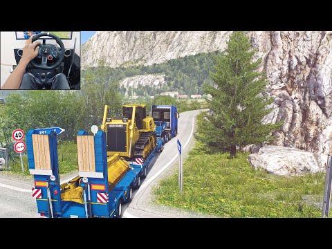 Scania S730 - Bulldozer Delivery | Euro Truck Simulator 2 | Logitech G29 Gameplay
