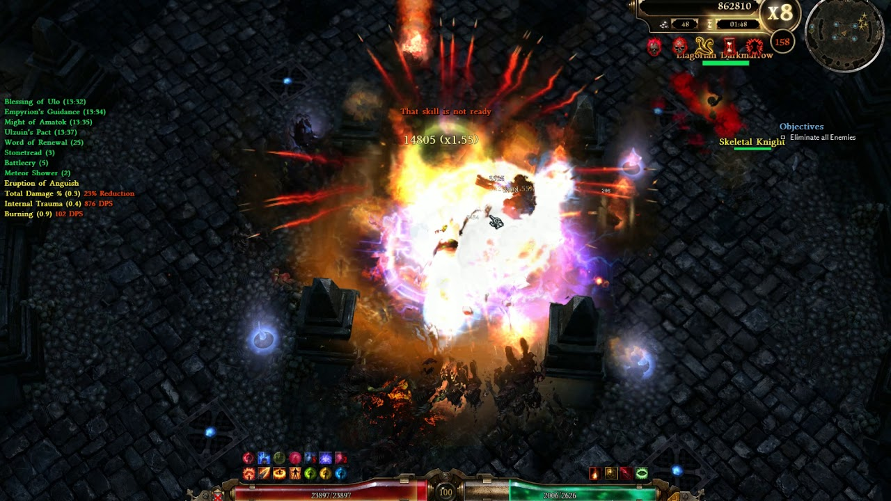 [Grim Dawn 1 1 3 0] 151-170 Crucible, Shattered Guardian + Stronghold, Fire  Strike Purifier