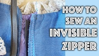 How to Sew an Invisible Zipper on a Home Sewing Machine | Sew Anastasia