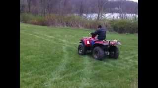10 year old Taylor Lipton riding a 700cc Quad