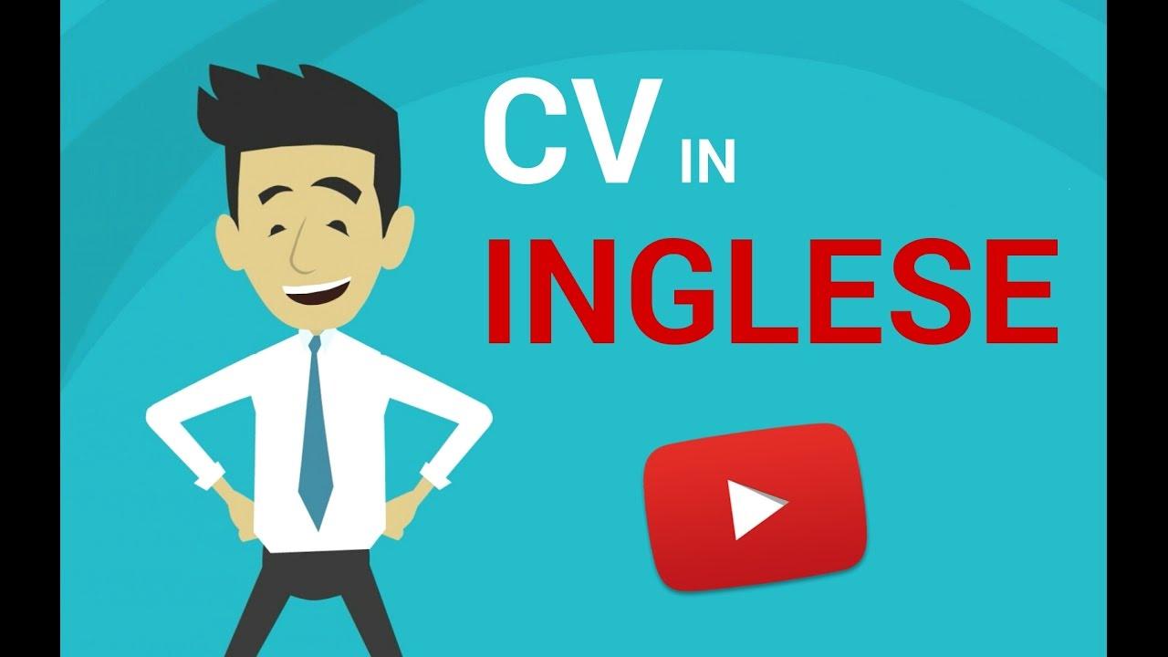 CV IN INGLESE