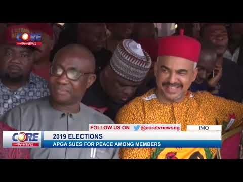 IMO APGA SUES FOR PEACE AMONG MEMBERS...watch & share...!
