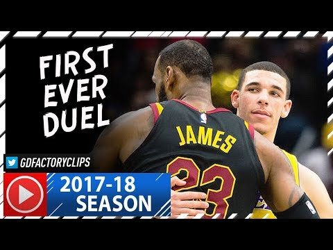 Download Youtube: LeBron James vs Lonzo Ball FIRST Duel Highlights (2017.12.14) Lakers vs Cavaliers - SICK!