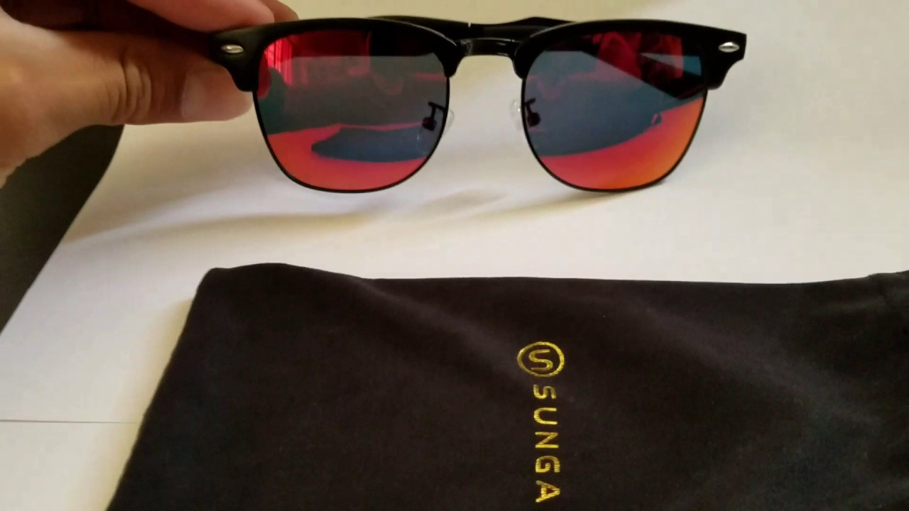 35ada43b53db Sungait Classic Half Frame Clubmaster Sunglasses - YouTube