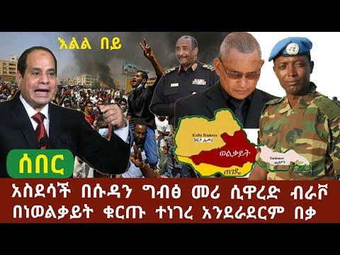 Ethiopia ሰበር ሱዳን የኛ አምላክ የግብፁ አልሲሲ በሱዳን ሲዋረድ ብራቮ -በነ ወልቃይት የማያዳግም መልስ ተሰጠ ሙሉ አንደራደርም