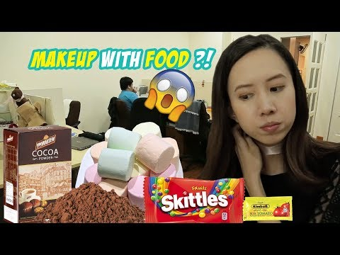 I tried Makeup With Food, Inspired by Ms Yeah | #PamperWithK