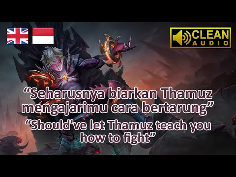 Dyrroth Voice Quotes Terjemahan Mobile Legends