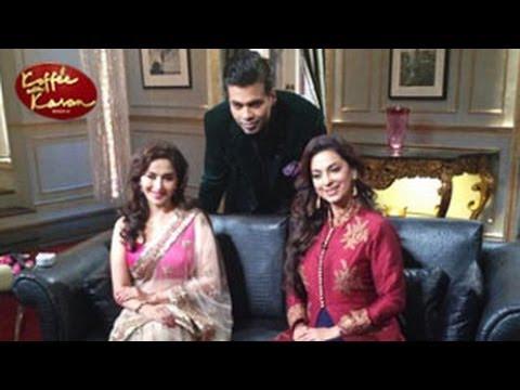 Madhuri Dixit & Juhi Chawla on Koffee With Karan Season 4 23rd February 2014 Episode