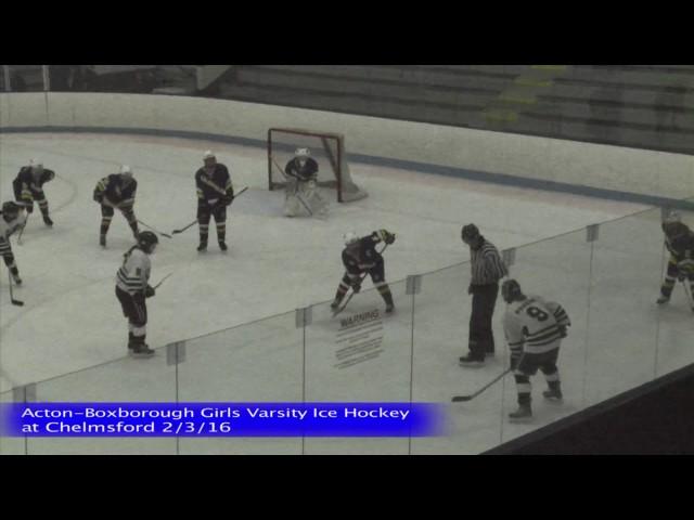 Acton Boxborough Girls Ice Hockey @ Chelmsford 2/3/16