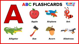 ABC Flashcards for Toddlers  Learning First Words  Teaching Alphabet for Kids