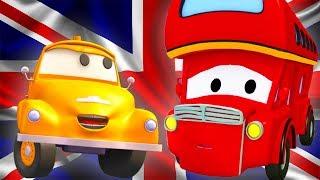 Tom la Grúa y Denver el bus de dos pisos !  en Auto City   Dibujos animados para niños