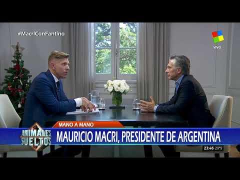 Mauricio Macri con Alejandro Fantino