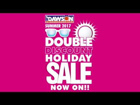 Dawson and Sanderson Double Discount Holiday Sale 2017