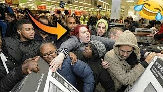 OMG! CRAZIEST BLACK FRIDAY DISASTERS Compilation 2018! (Black Friday Fights & Funniest Fails)