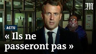 Attentat contre un enseignant : «Ils ne passeront pas», déclare Emmanuel Macron à Conflans