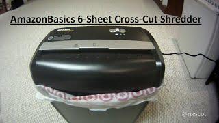 AmazonBasics 6-Sheet Cross-Cut Shredder Unboxing / Testing (AS662C)