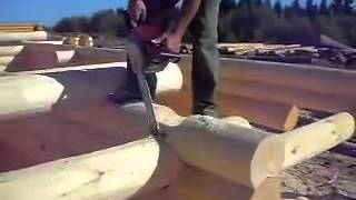 Технология строительства дома из сруба(, 2013-08-13T11:24:40.000Z)