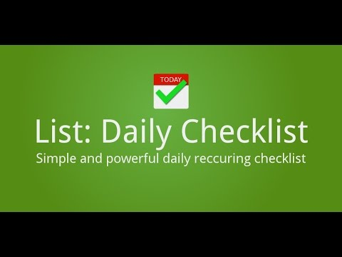 List: Daily Checklist - Android Apps On Google Play