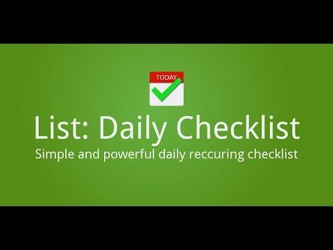 ListDaily Checklist - Apps on Google Play - daily checklist
