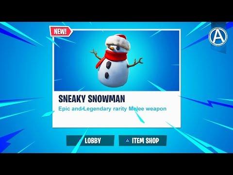 "NEW ""SNEAKY SNOWMAN"" ITEM in Fortnite Battle Royale! (Fortnite Content Update V7.20) thumbnail"