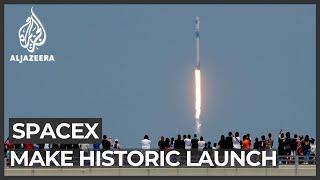 SpaceX and NASA astronauts make historic launch