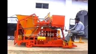 16 blocks machine,  semi automatic cocnrete block machine