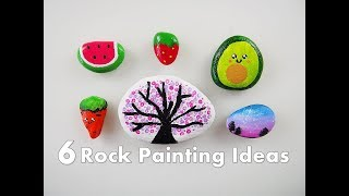 6 Easy Rock Painting Ideas for Kids ❀ Emily's Small World ❀
