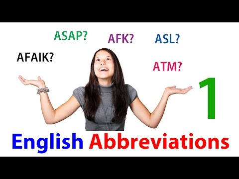 Learn English Through Urdu, Hindi | Online Abbreviations And Acronyms 1