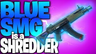 The NEW Blue SMG Is A Super Shredder (New Submachine Gun Gameplay) - Fortnite Battle Royale SMG
