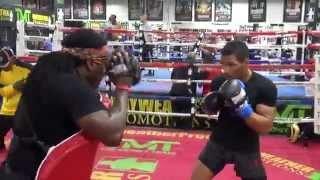 UFC fighter Kevin Lee standup work with Dewey Cooper