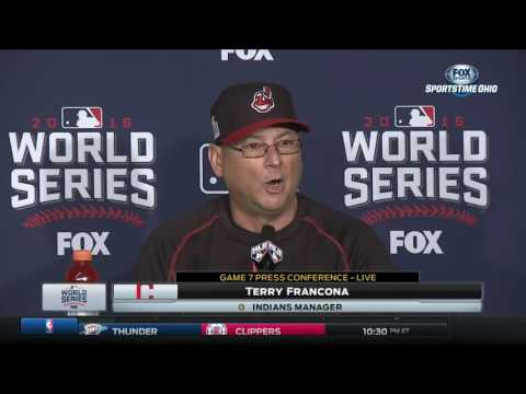Terry Francona explains decision to start Rajai Davis in center field for Game 7 | 2016 World Series