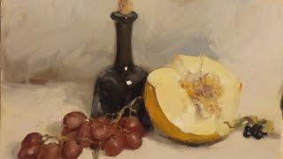 Натюрморт с дыней от 16 09 2015. Живопись маслом. Oil painting.