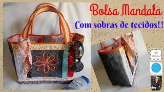 Bolsa Mandala – Aureolas de Tecidos
