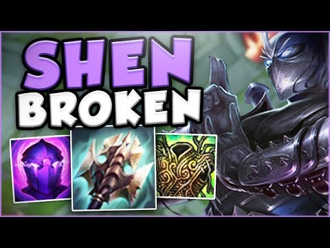 YOU WON'T BELIEVE HOW BROKEN SHEN REALLY IS! DIVE MASTER SHEN TOP GAMEPLAY! - League of Legends